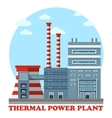 Thermal power station and plant for heating vector image