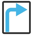 Turn Right Framed Icon vector image