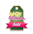 welcome back to school sale sticker vector image