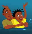 drowning victim vector image