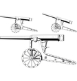 old cannon vector image vector image