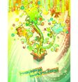 festive happy birthday background vector image vector image