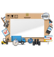 Delivery Board vector image