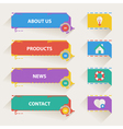 Retro Web Navigation Templates with Icons vector image vector image