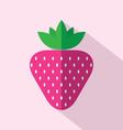 Flat Design Strawberry Icon vector image