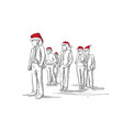 group of sketch silhouettes of business people vector image