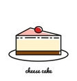 Line art cheese cake icon Infographic elements vector image