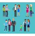parents with kids couple family and children vector image