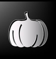 pumpkin sign gray 3d printed icon on vector image