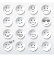 Set of faces with various emotion expressions vector image