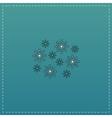 snowflakes flat icon vector image
