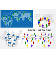 social network structure vector image