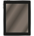Black abstract tablet computer tablet pc on white vector image vector image