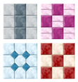 Tile set pattern vector image