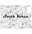 south korea line art design vector image