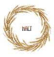 Watercolor malt wreath vector image