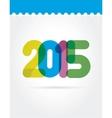 2015 symbols isolated on white background vector image