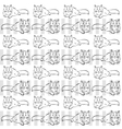 gray background with cats vector image vector image