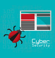cyber security virus threat document file vector image