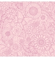 Monochrome pink seamless hand drawn pattern with vector image