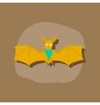 paper sticker on stylish background cute bat vector image
