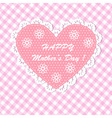 Pink Happy mothers day card design vector image