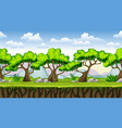 Seamless nature cartoon background with separate vector image