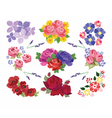 Spring Summer floral set vector image