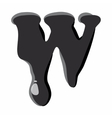 W letter isolated on white background vector image