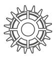 gear engineering design vector image