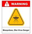 Zika virus Danger Mosquitoes symbol vector image