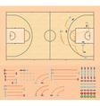Basketball coaching board vector image