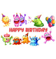 monster birthday vector image vector image