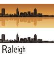 Raleigh skyline vector image vector image