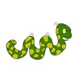 cartoon caterpillar on white background vector image