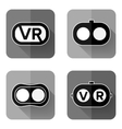 Set icons of virtual reality vector image
