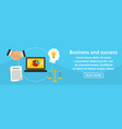 business and success banner horizontal concept vector image