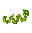 cartoon caterpillar on white background vector image