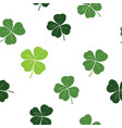 clover leaf hand drawn doodle seamless pattern vector image
