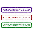 czech republic watermark stamp vector image