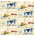Farm cows seamless pattern vector image