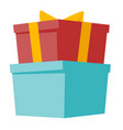 gift boxes with ribbon cartoon vector image