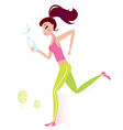 healthy woman vector image