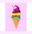 retro vintage logotype of ice cream vector image