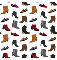 seamless pattern with shoes vector image
