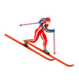 ski cross-country clipart vector image