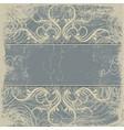 Vintage background antique greeting card vector image