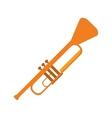 single trumpet icon vector image