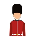 avatar british guard vector image