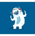Cute yeti biigfoot monster set vector image